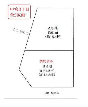 中宮区割図