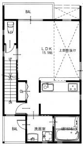 【A号地】2F間取り図プラン