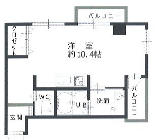 北畠ハイツ304間取