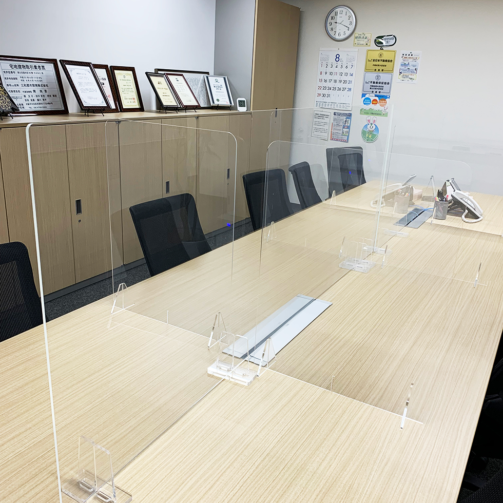 会議室:飛沫防止アクリル板の設置